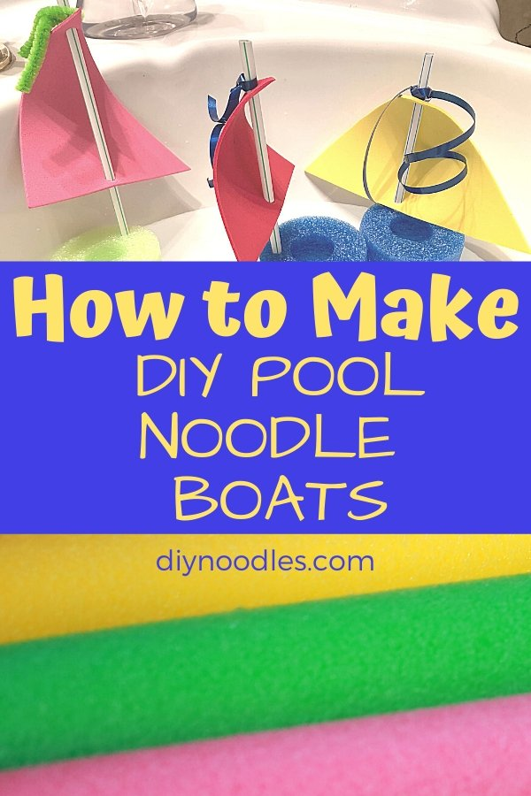 toy boat made from pool noodles