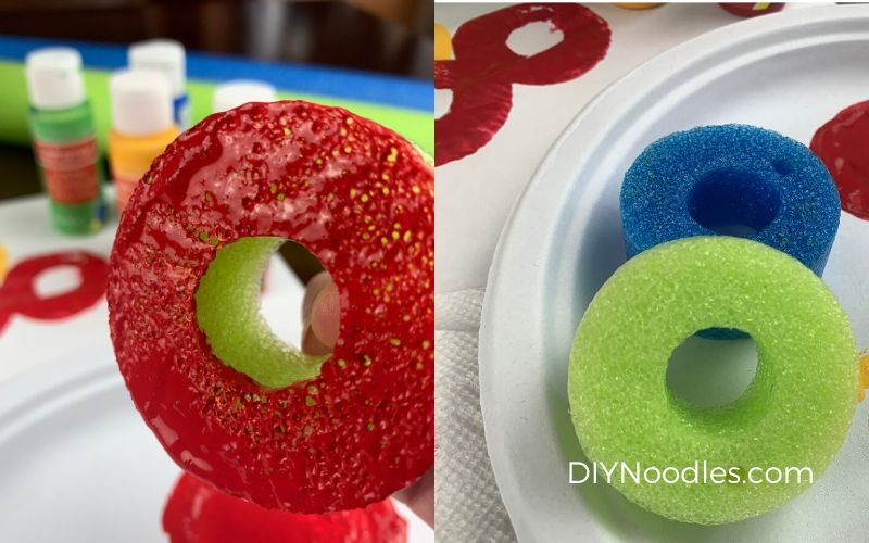 pool noodle craft stamps for painting