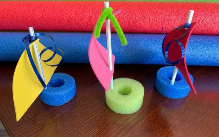 DIY Pool Noodle Boats