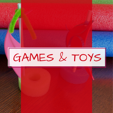 Pool noodle games and toys
