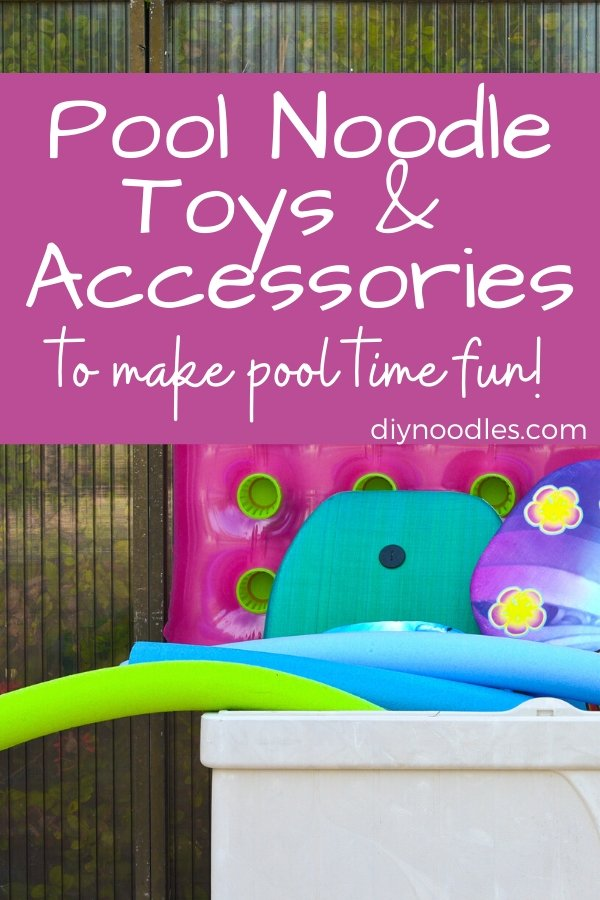 Pool noodle storage box with toys