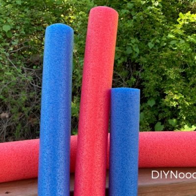 Red and blue Pool noodles