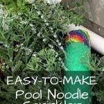pool noodle garden sprinkler