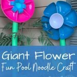 Giant flowers made from pool noodles
