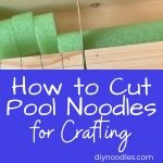 knife cutting pool noodle