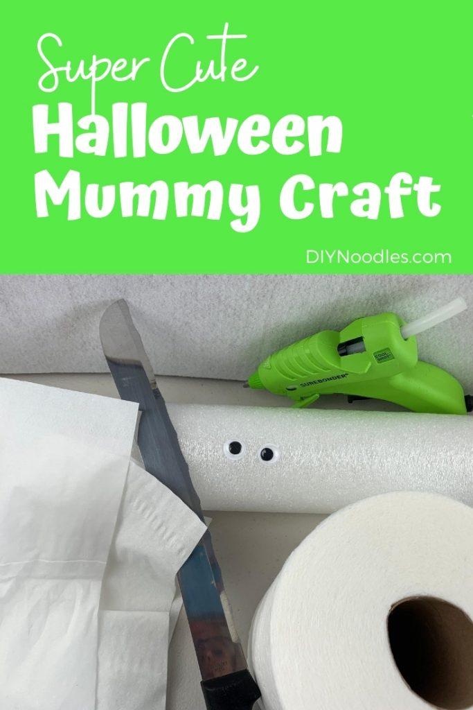 Mummy craft pin