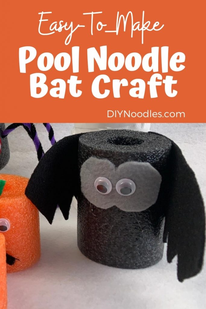 Pool noodle bat craft for Halloween