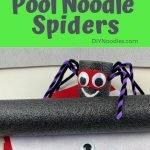 pool noodle spider craft