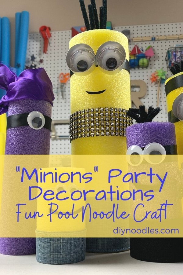 Pool Noodle Minion party decorations
