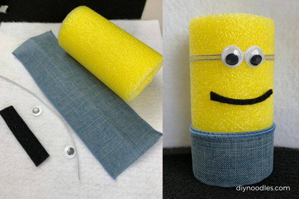 Minion Pool Noodle craft and supplies