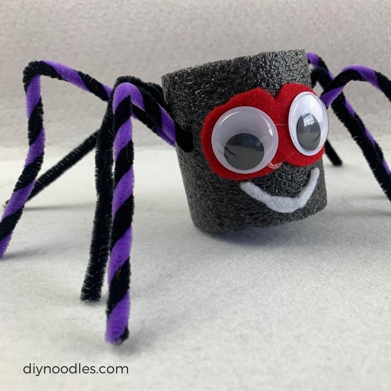 pool noodle spider craft