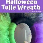 Tulle Halloween wreath tutorial