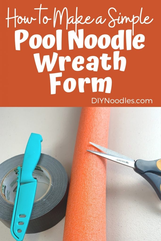 pool noodle Wreath form