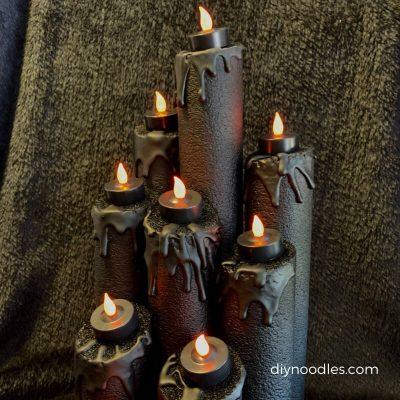 DIY Halloween Candles