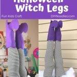 Halloween witch legs