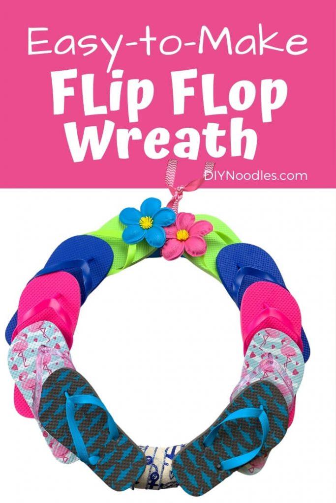 DIY Flip Flop wreath