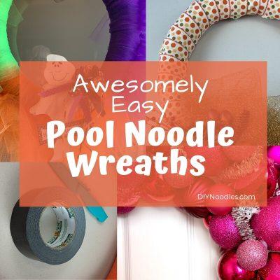 DIY Pool noodle wreaths