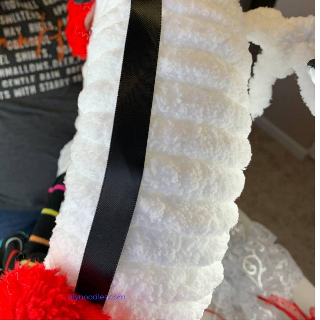 Snowman wreath earmuffs
